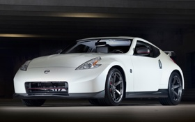 Картинка машина, белый, ниссан, передок, Nismo, Nissan 370Z
