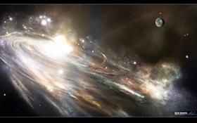 Картинка планета, спираль, галактика