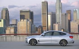 Обои Город, BMW, Машина, БМВ, Здания, вид сбоку, 3 series