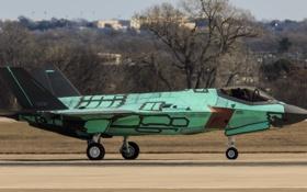 Картинка истребитель, бомбардировщик, аэродром, Lightning II, F-35A