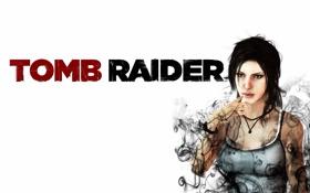 Картинка дым, арт, Tomb Raider, Лара Крофт, Lara Croft