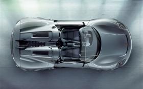 Обои авто, Concept, Porsche, сиденья, Spyder, 918, вид сверху