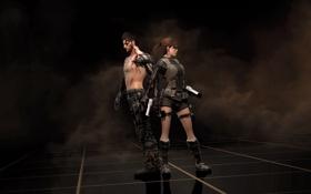 Обои Tomb Raider, Deus Ex: Human Revolution, crossover, Deus Ex, Lara Croft, Adam Jensen