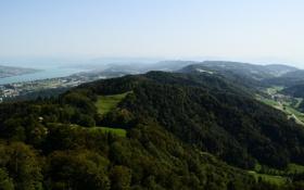Картинка лето, озеро, высота, Горы, Швейцария, Цюрих, Zürichsee