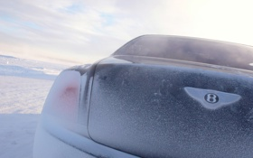 Картинка car, машина, небо, снег, знак, sky, snow