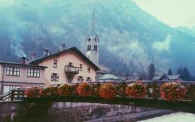 Обои Italy, Валле-д'Аоста, здания, Gressoney-Saint-Jean, Aosta Valley, Грессоне-Сен-Жан, Италия