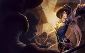 Обои девушка, пират, сабля, league of legends