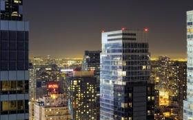 Картинка ночь, огни, нью-йорк, night, new york, usa, manhattan
