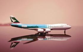 Обои Самолет, Модель, Крылья, Boeing, Авиация, 747, Cathay Pacific