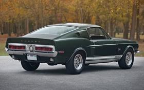 Обои классика, мускул кар, гт500, форд, мустанг, mustang, 1968
