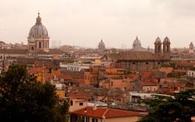 Обои город, фото, дома, Италия, сверху, Rome