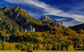 Обои осень, лес, горы, Германия, Бавария, Germany, Bavaria