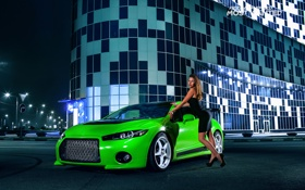 Обои зеленая, тюнинг, smotra, eclips, nfs, most wanted, mitsubishi