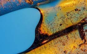 Картинка холод, лед, вода, солнце, пузырьки, фигура