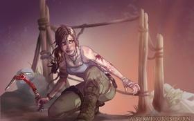 Обои девушка, арт, концепт, лара, Tomb Raider Reborn Contest