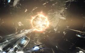 Картинка поверхность, планета, атмосфера, ядро, континенты, Космические корабли
