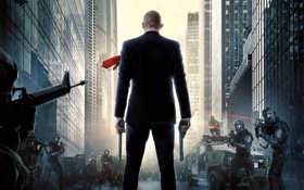 Обои город, полиция, киллер, хитман, Hitman: Agent 47