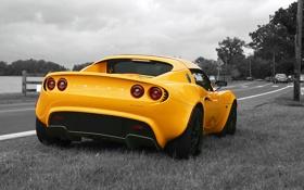 Обои дорога, фото, Auto, обочина, cars, Lotus Elise, wallpapers