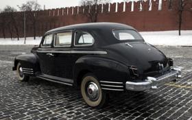 Картинка стена, черный, СССР, автомобиль, 110, ЗиС, Кремля