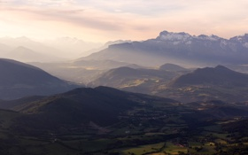 Картинка пейзаж, горы, вид, высота, панорама