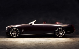 Обои ciel, концепт, Cadillac, кабриолет сбоку, concept
