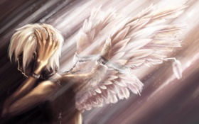 Обои ангел, цепи, дитя