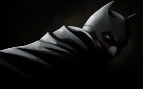 Картинка взгляд, маска, костюм, плащ, Batman, Bruce Wayne