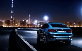 Обои Concept, Авто, Ночь, Синий, Город, BMW, Машина