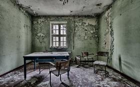 Обои стул, стол, интерьер, комната