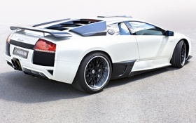 Обои машина, обои, тюнинг, Lamborghini, white, Hamann, supercar