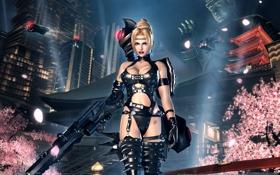 Картинка девушка, ниндзя, винтовка, ninja gaiden sigma 2