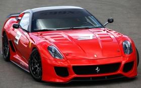 Обои Феррари, 599XX, Красная, Суперкар, GTO, Ferrari, Авто