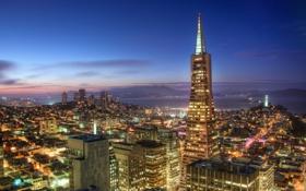 Обои Калифорния, Сан-Франциско, небоскрёбы, San Francisco