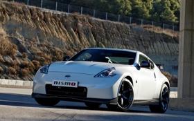 Обои авто, фары, Nissan, передок, 370Z, Nismo