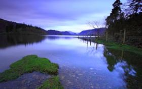 Картинка небо, прозрачность, природа, озеро, камни