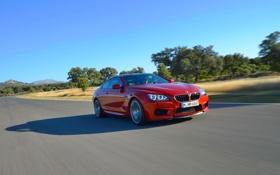 Картинка Красный, Авто, BMW, БМВ, Капот, Coupe, Передок