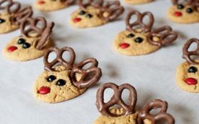Обои праздник, еда, печенье