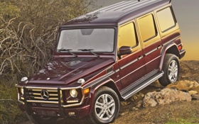 Обои Mercedes-Benz, внедорожник, мерседес, G 550, массивный