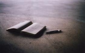 Обои блокнот, книжка, ручка