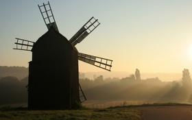 Обои музей, мельница, вітряк, Пирогово, Украина, Киев, поле
