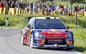 Обои Авто, Люди, Ситроен, Citroen, Rally, Sebastien Loeb, Передок