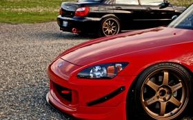 Обои Subaru, Impreza, чёрная, red, Honda, black, красная