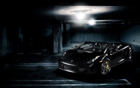 Обои чёрный, тачки, gallardo, lamborghini, cars, auto wallpapers, авто обои