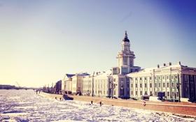 Картинка зима, снег, река, Питер, Санкт-Петербург, Россия, Russia