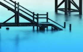 Обои вода, гладь, stairways