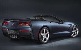 Обои фон, обои, Corvette, Chevrolet, автомобиль, Convertible, Stingray