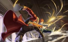 Картинка оружие, аниме, арт, парни, сражение, fate stay night, archer
