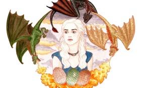 Картинка dragon, game of thrones, Daenerys Targaryen, hbo