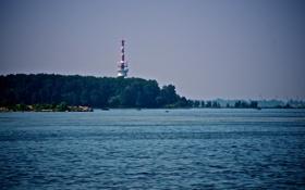 Обои маяк, Море, Петергоф