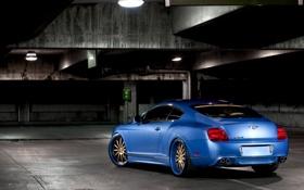 Обои голубой, тюнинг, Bentley, Continental, blue, бентли, континенталь